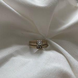 Jewelry - White gold 14k diamond ring and band